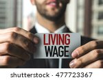 living wage | Shutterstock . vector #477723367