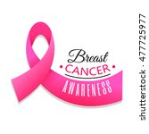 breast cancer awareness ribbon... | Shutterstock .eps vector #477725977