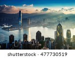 city and harbor at sunrise | Shutterstock . vector #477730519