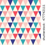 triangles seamless pattern.... | Shutterstock .eps vector #477742111