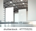 blank white banners in bright... | Shutterstock . vector #477755251