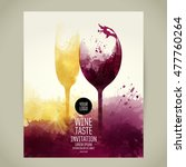 template for your wine related... | Shutterstock .eps vector #477760264