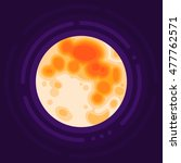 full moon. flat design vector... | Shutterstock .eps vector #477762571
