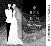 wedding invitation card. | Shutterstock .eps vector #477762871