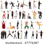 stock people concept with lots... | Shutterstock . vector #47776387