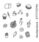 food and drink doodle style ... | Shutterstock .eps vector #477773794