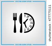 fork knife clock icon vector...   Shutterstock .eps vector #477775111