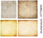 aged paper set | Shutterstock . vector #47778895