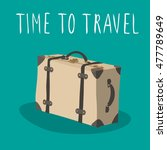 retro suitcase vector isolated. ...   Shutterstock .eps vector #477789649