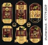 olive oil retro vintage gold... | Shutterstock .eps vector #477791839