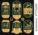 olive oil retro vintage gold... | Shutterstock .eps vector #477791845