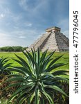 the ancient pyramid of kukulcan ... | Shutterstock . vector #477796045