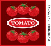 tomato brown background vector... | Shutterstock .eps vector #477797419