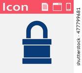vector flat icon of padlock...