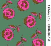 green  brown and pink vector... | Shutterstock .eps vector #477799861