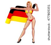 beautiful lady in bikini with... | Shutterstock .eps vector #477805351