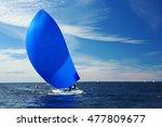 sailing yacht race. yachting.... | Shutterstock . vector #477809677