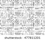 food and drink icons pattern.... | Shutterstock .eps vector #477811201