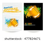 rugby  american football ... | Shutterstock .eps vector #477824671