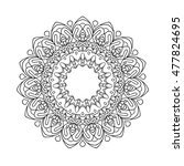 mandala. ethnic decorative... | Shutterstock .eps vector #477824695