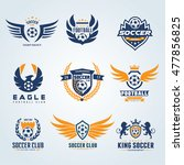 set of soccer football logo... | Shutterstock .eps vector #477856825