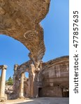 Small photo of VILLA ADRIANA, ITALY - AUG 30, 2015: The ruins of a Grand thermae. UNESCO list
