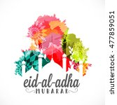 a beautiful illustration of eid ... | Shutterstock .eps vector #477859051