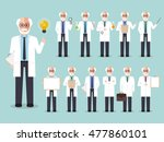 group of senior male professors ... | Shutterstock .eps vector #477860101