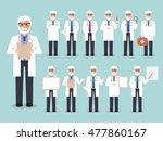 group of senior male doctors ... | Shutterstock .eps vector #477860167
