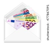 Open Envelope Containing Euro...