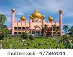 kuching city mosque  masjid...   Shutterstock . vector #477869011