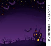 haunted mansion and bats | Shutterstock . vector #477877447