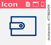 wallet flat vector icon....