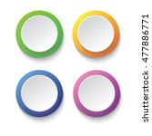 set of colorful circle buttons... | Shutterstock .eps vector #477886771