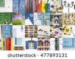images and fragments of old... | Shutterstock . vector #477893131