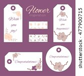 the set of greeting tags | Shutterstock .eps vector #477900715