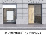 shop window with white... | Shutterstock . vector #477904321