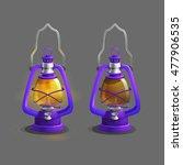 cartoon colorful ancient lamp...