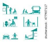rehabilitation activity... | Shutterstock .eps vector #477907117