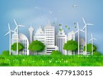 concept of eco friendly and... | Shutterstock .eps vector #477913015
