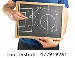 hand of a football coach... | Shutterstock . vector #477919261