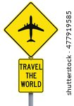 a modified road sign indicating ... | Shutterstock . vector #477919585