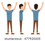 vector illustration of three... | Shutterstock .eps vector #477920335