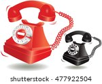 ringing old fashioned telephone. | Shutterstock .eps vector #477922504
