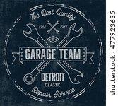 garage service vintage tee... | Shutterstock .eps vector #477923635