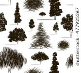 trees sketch set pattern | Shutterstock .eps vector #477925267