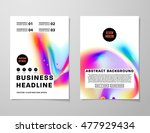 cover template with abstract... | Shutterstock .eps vector #477929434
