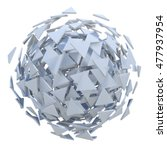white sphere exploded to... | Shutterstock . vector #477937954