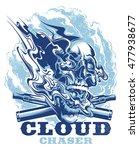 smoking skull | Shutterstock .eps vector #477938677
