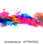 explosion of colored powder ... | Shutterstock . vector #477943531